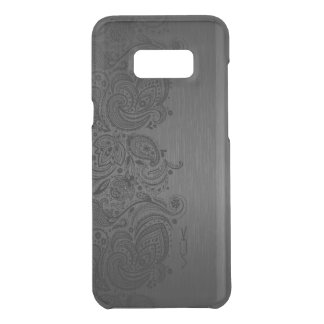 Metallic Gray & Black Paisley Lace Uncommon Samsung Galaxy S8 Plus Case