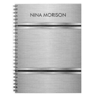 Metallic Gray Design Notebook