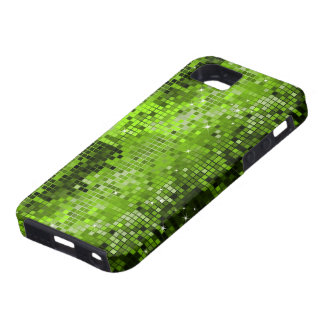 Metallic Green Sequins Look Disco Mirrors Bling iPhone 5 Covers