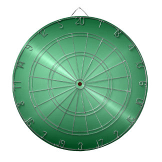 Metallic Green Stainless Steel Metal Look Dartboard