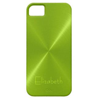 Metallic Green Stainless Steel Metal Look iPhone 5 Cover