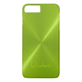 Metallic Green Stainless Steel Metal Look iPhone 7 Plus Case