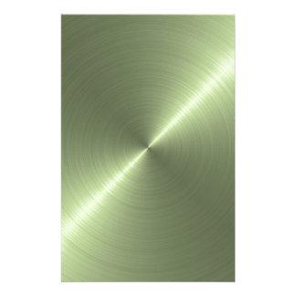 Metallic Green Stationery