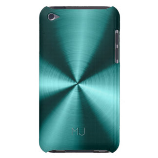 Metallic Green Tones Stainless Steel Look Barely There iPod Cases