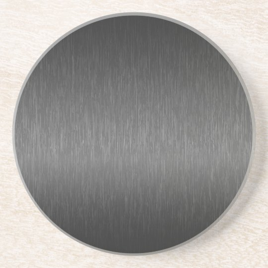 Metallic Grey Brushed Aluminium Look Coaster