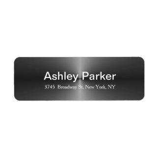 Metallic Grey Modern Elegant Stylish Trendy Return Address Label
