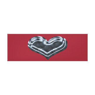 Metallic Heart Stretched Canvas Prints