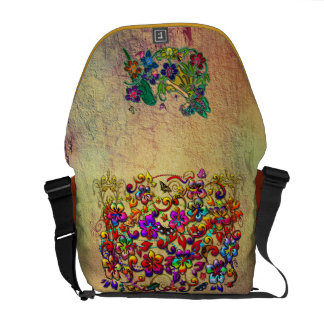 Metallic Hibiscus Butterfly Stars & Butterfly Girl Courier Bag