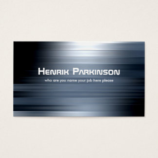 metallic lines business card