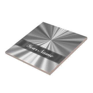 Metallic looking silver tile