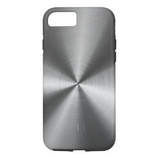 Metallic Medium Gray Tones Stainless Steel Look iPhone 7 Case