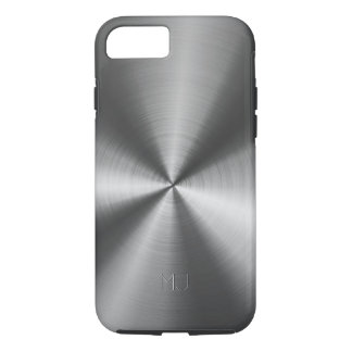 Metallic Medium Gray Tones Stainless Steel Look iPhone 8/7 Case