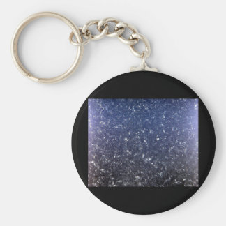 metallic microstructure basic round button key ring