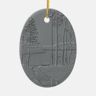 """Metallic Nature"" ornament"