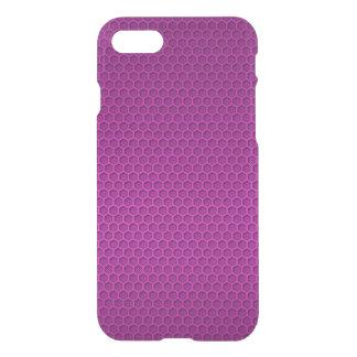 Metallic Neon Pink Graphite Honeycomb Carbon Fibre iPhone 7 Case