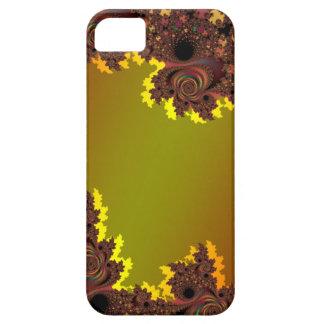 Metallic Orange Asymmetrical  Fractal Skins Case For The iPhone 5