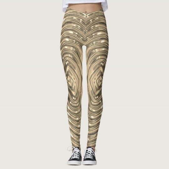 Metallic Pale Gold - Leggings