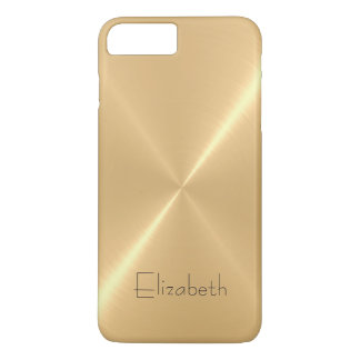 Metallic Pale Gold Stainless Steel Metal Look iPhone 7 Plus Case