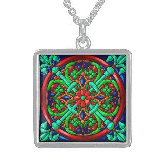 Metallic Pattern 8 Pendant