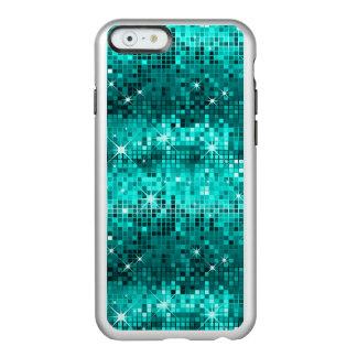 Metallic Peacock Green Sequins Look Disco Glitter Incipio Feather® Shine iPhone 6 Case