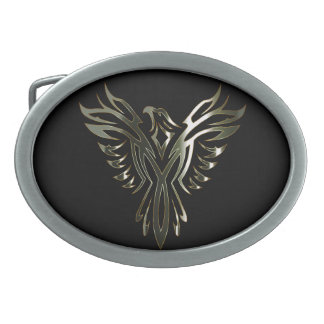 Metallic Phoenix Belt Buckle