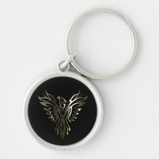 Metallic Phoenix Key Ring
