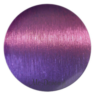 Metallic Pink and Purple Fibers Pattern Plate