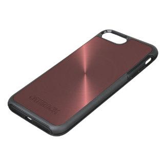 Metallic Pink Rose Gold Machined Metal OtterBox Symmetry iPhone 7 Plus Case