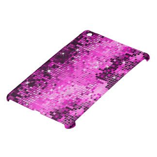 Metallic Pink Sequins Look Disco Mirrors Bling iPad Mini Covers