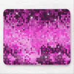 Metallic Pink Sequins Look Disco Mirrors Bling Mousemats