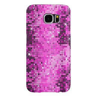 Metallic Pink Sequins Look Disco Mirrors Bling Samsung Galaxy S6 Cases