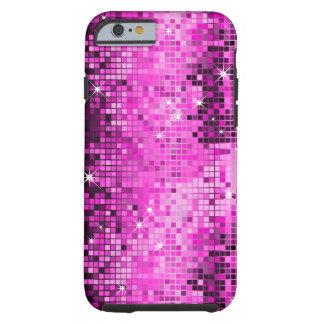 Metallic Pink Sequins Look Disco Mirrors Bling Tough iPhone 6 Case
