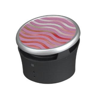 Metallic Pink Waves Bluetooth Speaker