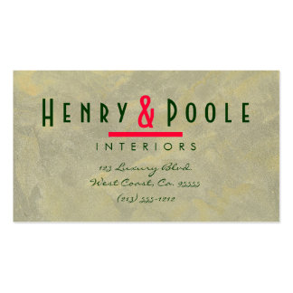 Metallic Plaster Interior Designer Branding Pack Of Standard Business Cards