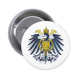 Metallic Preussian Eagle 6 Cm Round Badge