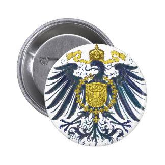 Metallic Preussian Eagle 6 Cm Round Badge