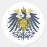 Metallic Preussian Eagle Classic Round Sticker