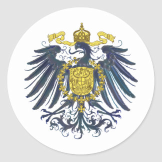 Metallic Preussian Eagle Round Sticker