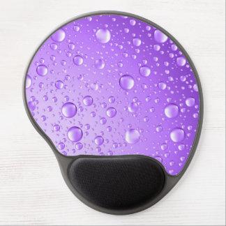 Metallic Purple Abstract Rain Drops Gel Mouse Pad