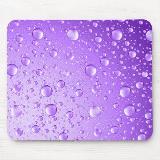 Metallic Purple Abstract Rain Drops Mouse Mat