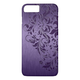 Metallic Purple Brushed Aluminum Purple Lace iPhone 8 Plus/7 Plus Case