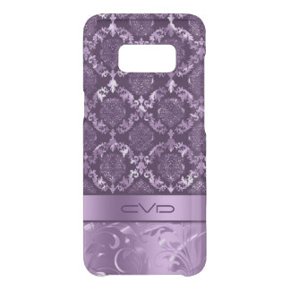 Metallic Purple Floral Lace Pattern Uncommon Samsung Galaxy S8 Case