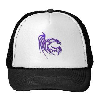 Metallic Purple Hammered Metal Dragon Cap