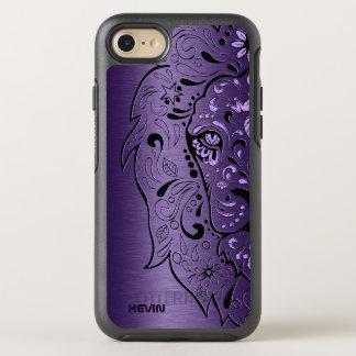 Metallic Purple & Lion Head Sugar Skull OtterBox Symmetry iPhone 7 Case