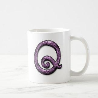 Metallic Purple Monogram Mugs