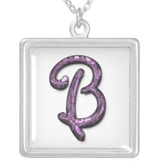 Metallic Purple Monogram Necklaces