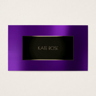 Metallic Purple Plum Black Champaign Frame Vip Business Card