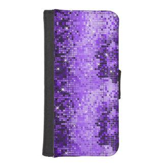 Metallic Purple Sequins Look Disco Glitter