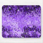 Metallic Purple Sequins Look Disco Mirrors Bling Mousemats