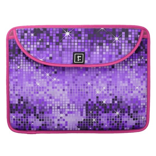Metallic Purple Sequins Look Disco Mirrors Bling Sleeve For MacBooks